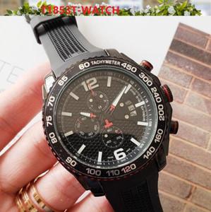 Top marques de grande taille Montre Homme Luxe Tous Dials travail automatique Date de calendrier d'or Wristwatch Sports style silicone militaire Big Male Clock
