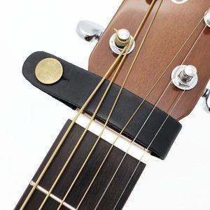 Leather Guitar Strap Titular botão de trava de segurança para acústica elétrica clássica Guitarra Baixo