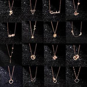 20 стилей дизайнер ювелирных изделий черный лебедь клевер ожерелье из 18-каратного розового золота ожерелье платина роскошный подарок любовника женщины