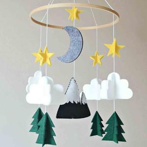 Garçons / Filles Lit bébé mobile Woodland Nuit Nursery mobile Décoration Felt Chambre Maison Decor pour bébé Dropshipping P #