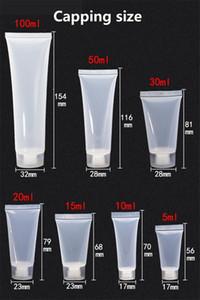 5ml 10ml 15ml 20ml 30ml 50ml 100ml durchsichtigem Kunststoff Lotion weiche Schläuche Flaschen Frosted Behälter leer Kosmetik Make-up Sahnebehälter JXW503