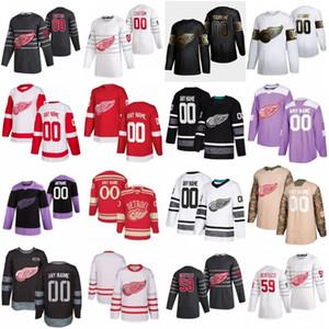 2020 All Star Custom 59 Tyler Bertuzzi Detroit Red Wings Hokeyi Formalar 13 Pavel Datsyuk 71 Dylan Larkin 39 Anthony Mantha 35 Jimmy Howard