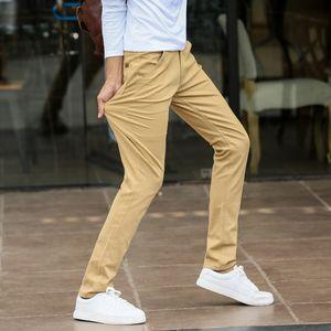 Hommes Pantalons Slim Fit Noir Rouge Pantalon Hombre hommes hétéros Pantalons simple d'été en coton chino Homme bureau Pantalon