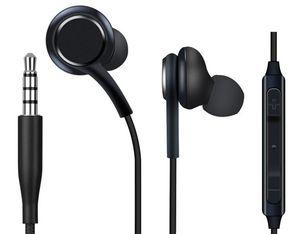 Fones de ouvido 3,5 milímetros de ouvido com microfone e fone de ouvido remoto Controle de fone de ouvido para Samsung S6 S7 S8 e telefone android