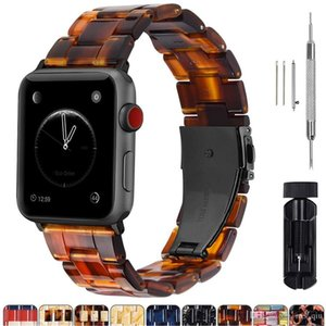 Resin strap For designer apple watch band iwatch Series 5 4 3 2 1 Wrist bracele apple watch bands Accessories bracelet Replacement