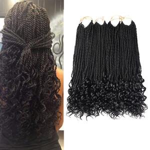 Cheveux tressés au crochet Twists sénégalais Coiffures 1Packs 18inches Cheveux tresses au crochet pour les femmes noires 30 strands / pack (6 couleurs)