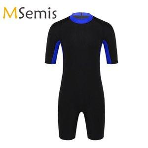 Swimwear Mens costume intero Diving Body Body Shorty neoprene Nuoto Snorkeling Surf Immersione tuta caldo Costumi da bagno