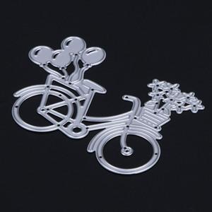 DIY Lovely Bike Bicycle Metal Cutting Dies Stencil para Scrapbooking Paper Card Album Photo Craft Art Embossing Painting Decor