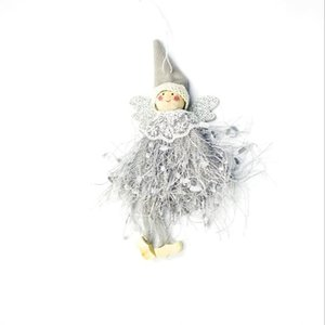 Holiday style cute yarn angel doll pendant creative project home solid color ornament Christmas tree decoration