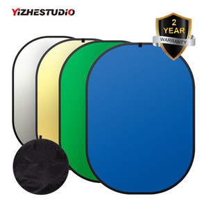 150 * 200cm 4IN1 축소 배경 크로마 키 패널 녹색 파란색의 배경 화면 사진 반사경 스튜디오 조명 제어 Fotografia T200610