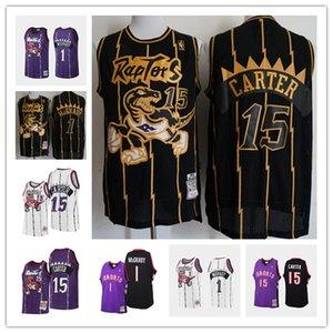 TorontoraptoresHomens Vince Carter Tracy McGrady 1997-1998 HardwoodClassics basquete Jersey