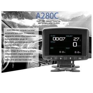 A208C Head-Up Display Smart Car OBD Hud Display Meter Speedometer Fuel Consumption Gauge Fault Code Alarm car dvd