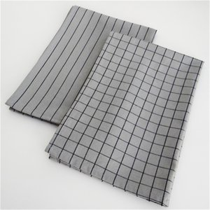 Nordic style household table napkin table mat food background photo grid tablecloth grey cotton kitchen table