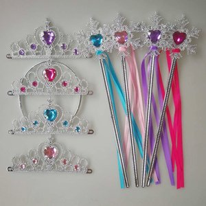 Frozen accessories magic wand Crown gloves braid earrings ring mask headdress costume Accessories props Magic Props props