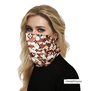 SALE Luxury Half Masks Outdoor Bicycle Cycling Bandanas Scarf Designer Headband Sports Head Scarves Washable Protective Face Mask