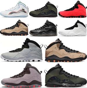 2020 Nuovi Arrinal sneakers scarpe da basket Jumpman 10 10s high-top grigio rosso woodland cemento deserto camo ali 40-46