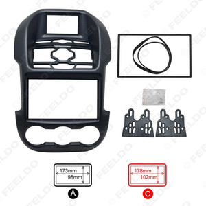 Car 2DIN Refitting Audio DVD Panel Frame Panel Radio Fascia Frame Kit Face Plate for Ford Ranger (Luxury type) #2836