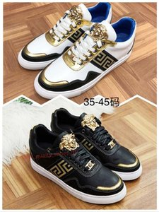 Versace Novo Luxo Homens Mulheres Sneakers Hot Sale respirável Xshfbcl Trainers Casual Plataforma Lace Up Shoes Casal sneakers Quatro Estações
