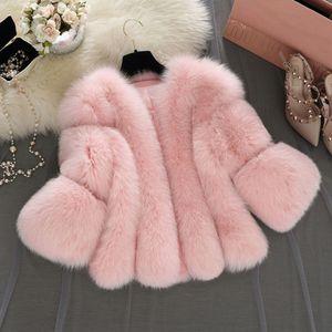 Plus Size Brasão Mulheres Faux 2018 inverno quente grossa Cabeludo Jackets Sólidos Falso Casacos Feminino pele macia Coats Overcoat Feminino