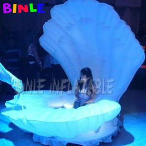 Fantasy giant inflatable shell inflatable seashell model inflatable clamshell with led light up for wedding decoration