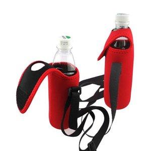 Bottiglia Neoprene Water Cooler Bottle Holder con tracolla la cinghia morbida isolato bevande Bottiglia di birra portare borse YYA64