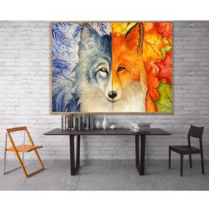 Full drill diamond embroidery needlework cross stitch full Both sides of the Wolf round rhinestonescrafts painting sets