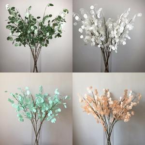 البلاستيك الاصطناعي زهرة بيرليسسينت اللون شل طويل فرع محاكاة الزهور تأثيث المنزل فندق خلفية الجدار الديكور 7 6yz l1
