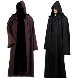 Halloween Cosplay Samurai Cloak Movie Hombres Caballero Robe con capucha Fancy Cool Cosplay Costume Festive Party Supplies HHA624