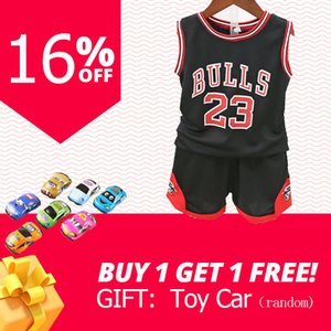 Çocuk çocuk yaz giyim Çocuk basketbol üniforma erkek bebekleri eşofman 2adet Çocuk erkek spor giysileri seti yelek + kısa pantolon kıyafet ayarlamak