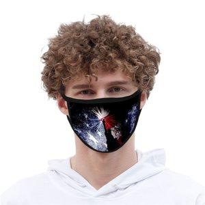 3D digital gedruckt Gesichtsmaske Unabhängigkeitstag Eis Seidentuch Gesichtsmaske waschbar wiederverwendbare Staubmaske T3I5778