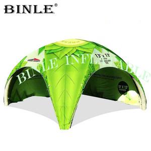 Sealed Air esterno evento tenda ragno gonfiabile con la stampa a TPU cupola aria baldacchino pubblicità gazebo tenda per la mostra