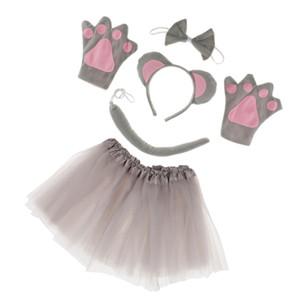 Luvas meninas animal mouse Costume Set Headband Tails Bow Tie Cosplay Props
