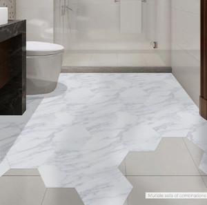 Wasserdichte Badezimmer Bodenfliesen Aufkleber selbstklebende PVC Marmor Boden Aufkleber PeelStick Aufkleber rutschfeste Home Entrance Decor