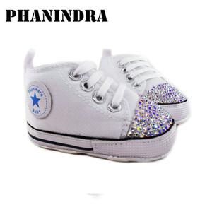 Princesa Rhinestone rosa zapatos de bebé hechos a mano Ab Rhinestone cristalino del niño Bling Bling zapatos niños moda Baby Girl Shoes J190517
