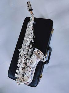 Новый Yanagisawa S-901 Изогнутая Шея BbTune Никель Серебро Латунь Сопрано Саксофон Инструмент Для Студентов С Футляром Подарок