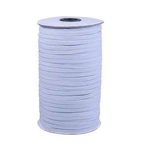 200 Yards Lunghezza del cavo 0,12 pollici Larghezza intrecciato banda elastica Knit Banda di cucito fai da te Maschera Copriletto