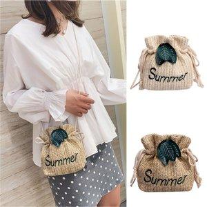 sacos para as Mulheres 2019 cordão Dumplings Cordas Beach Bags Straw Bag Feminino Shoulder bag Mensageiro Worek plecak sznurek # y4