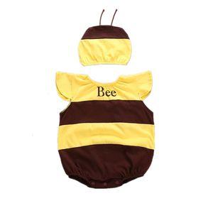 Unisex Baby Boys Lovely Animal Summer Tops Sleeveless One Piece Romper Set Designer Little Bee Costume Girls Photograph Dress