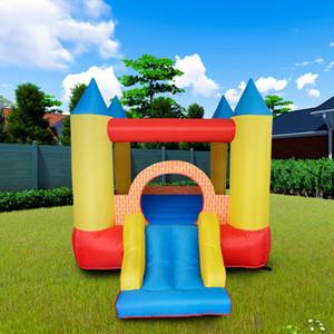 Tobogán inflable Trampolín Castillo Amarillo Moonwalk juegos para niños al aire libre Infantil niños saltando parque de atracciones hinchables Soft Play