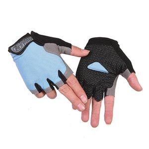 Bicycle Riding Gloves Anti Slip For MTB Road Mountain Bike Glove Anti Shock 1Pair Half Finger Cycling Gloves Anti-Slip Gel