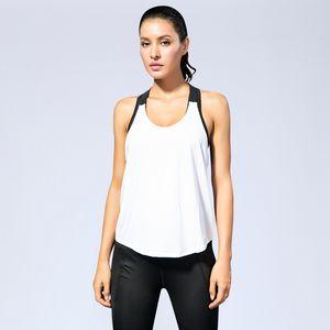 Женский спортивный жилет фитнес йога бег Синглет Т стиль назад выдалбливают слинг камзол быстро сухой рукавов строка рубашка женщины Майка S-XXL