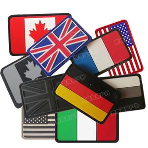 PVC Epoksi Bayrak Kol Bandı İNGILTERE Almanya Fransa İtalya Birleşik Devletleri Kanada Bayrağı Rozeti Giysi Sırt Çantası Şapka Kot Dekoratif Yama