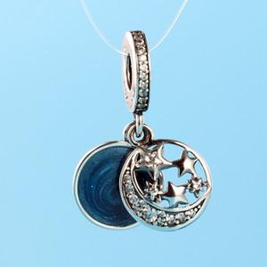 Romantic estrela pingente temperamento para Pandora prata 925 com charme CZ diamante com jóias menina elegante caixa original