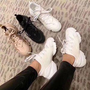 2019 moda lüks tasarımcıları bayan ayakkabı Kadınlar Neopren Grogren Şerit D-Connect'in spor ayakkabısı Lady Wrap-around Kauçuk Sole Casual Ayakkabı