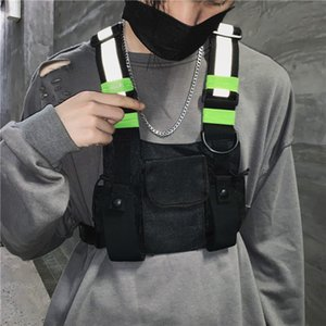 Moda Chest Rig Bag Camouflage Tactical Vest Harness Anteriore pacchetto Pouch Holster Vest Rig Hip Hop Streetwear funzionale Petto Bag SH190924