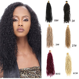 Curly Crochet Synthetic Hair Water Wave Colorful Braiding Free tresses Hair Extension 14 Inch Fiber Free tress Crochet Hair piece 100g pcs