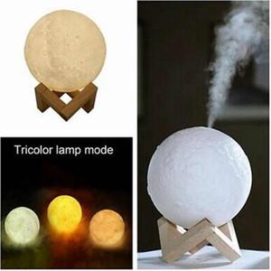 880ML ätherisches Öl Diffusor Luftbefeuchter Mond 3D-LED-Leuchten Aroma Diffuser USB Humidificador Nacht Tricolor Mist Purifier ZZA1609