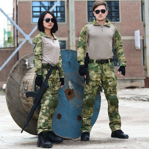 Multicam Black Military Uniform Camouflage Suit with Elbow Knee Pads Tatico Tactical Military Camouflage Airsoft Paintball Equipment Clothes