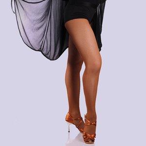 Medias de rejilla Profesional Panti Latin Dance Seemless color sólido medias FEA889