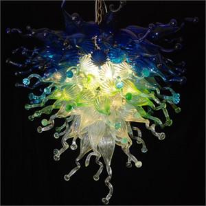 개인 서클 크리스탈 패션 불어 유리 샹들리에 무라노 날려 유리 거품 천장 조명 현대적인 홈 장식